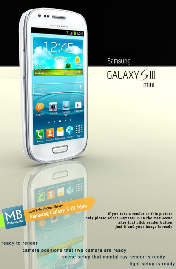 3DOcean Samsung Galaxy S III Mini Low Poly 7514249