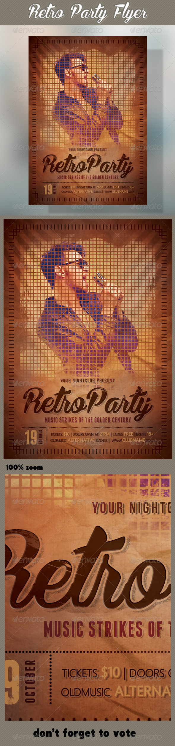 Retro Party Flyer 03 - Events Flyers