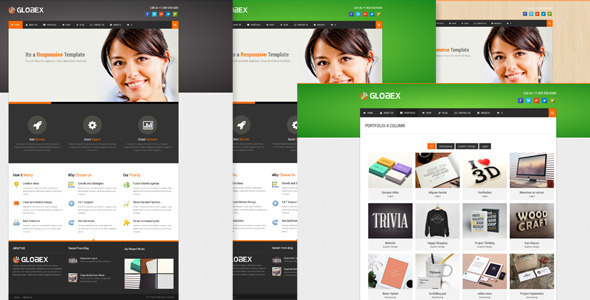 Globex - Responsive Business WordPress Theme - Business Corporate