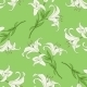 Seamless Pattern of Lily on Green Background