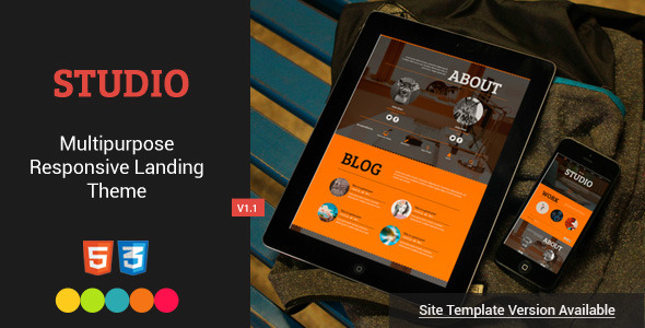Studio - Responsive Landing Page