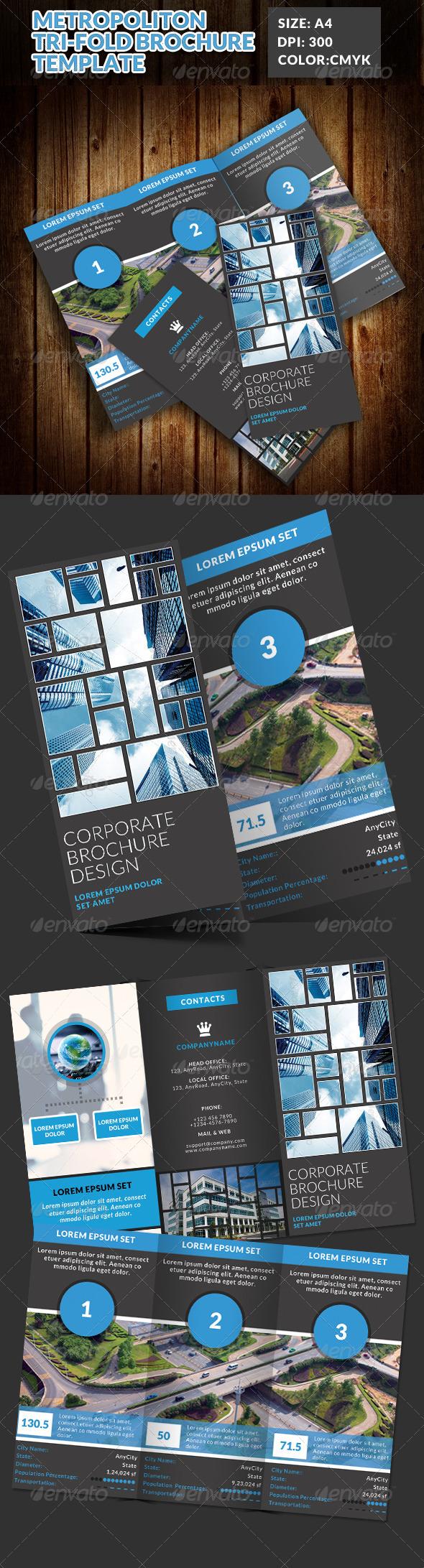 GraphicRiver Metropolitan Tri-Fold Brochures Template 7581984