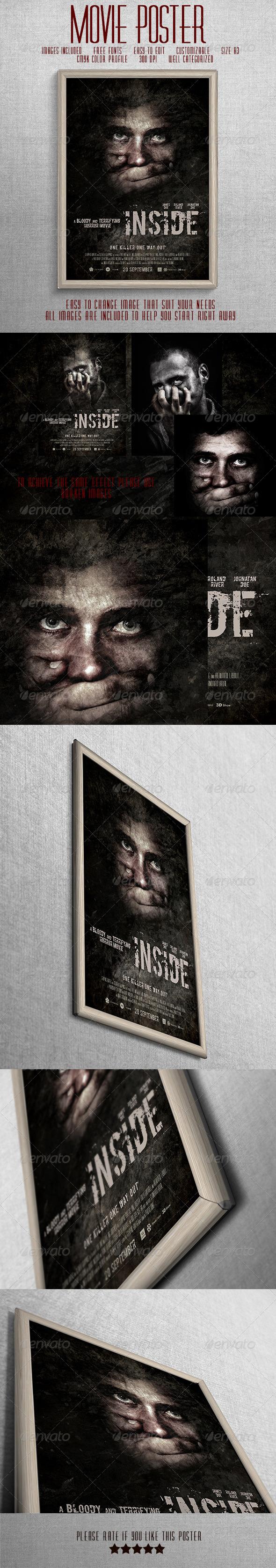 GraphicRiver Crime Or Horror Movie Poster 7582153