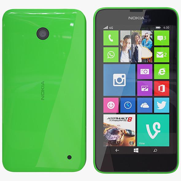 3DOcean Nokia 635 green 7582155