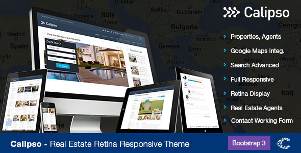ThemeForest Calipso Responsive Real Estate Theme 7582376