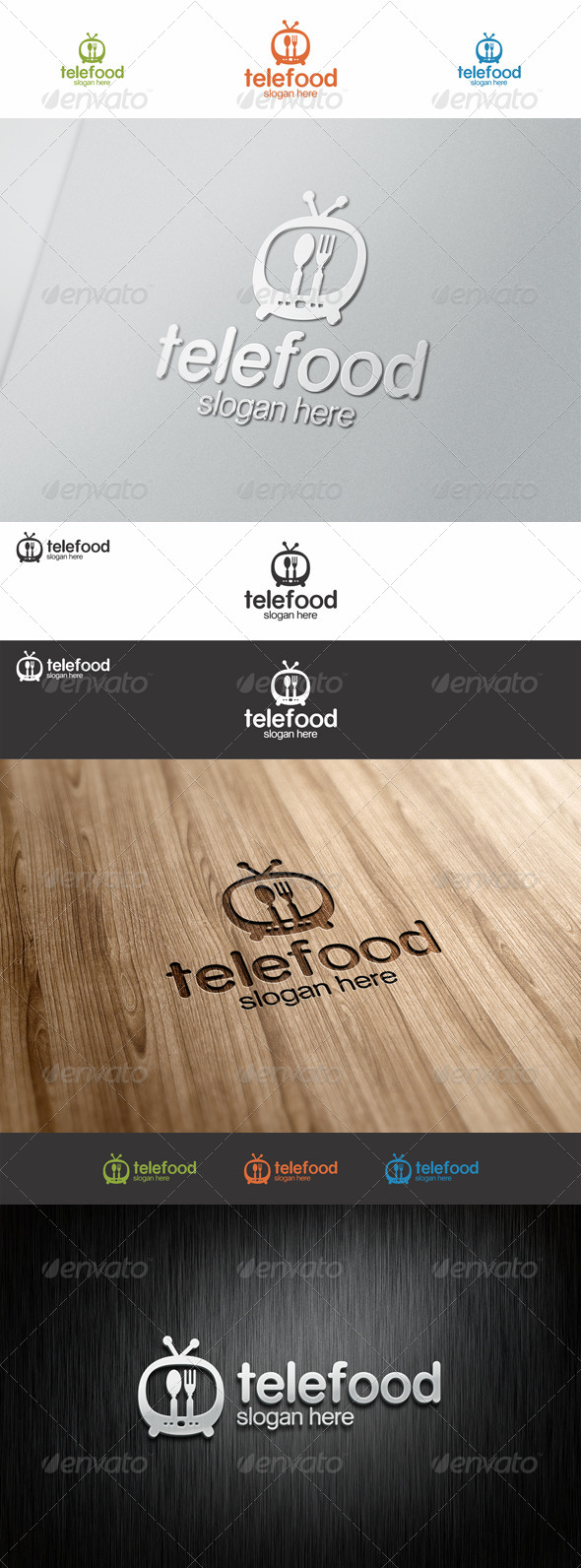 GraphicRiver Tele Food Tv Show Logo 7582443