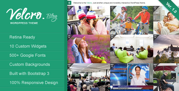 ThemeForest Velcro Retina Responsive WordPress Theme 7582469