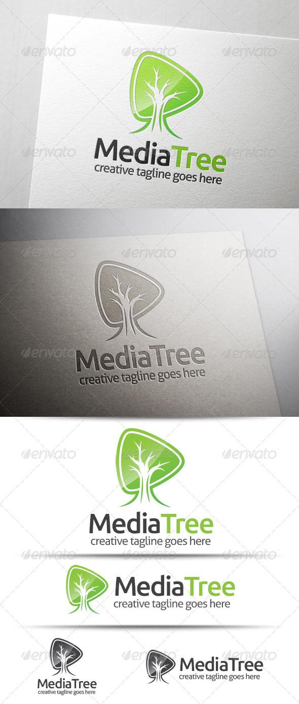 GraphicRiver Media Tree Logo 7582474
