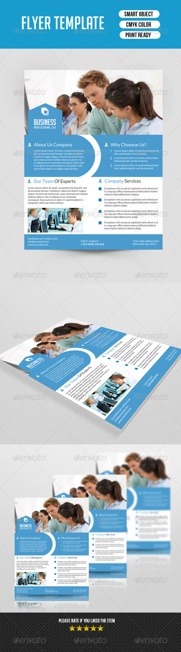 GraphicRiver Business Flyer Template 7582647
