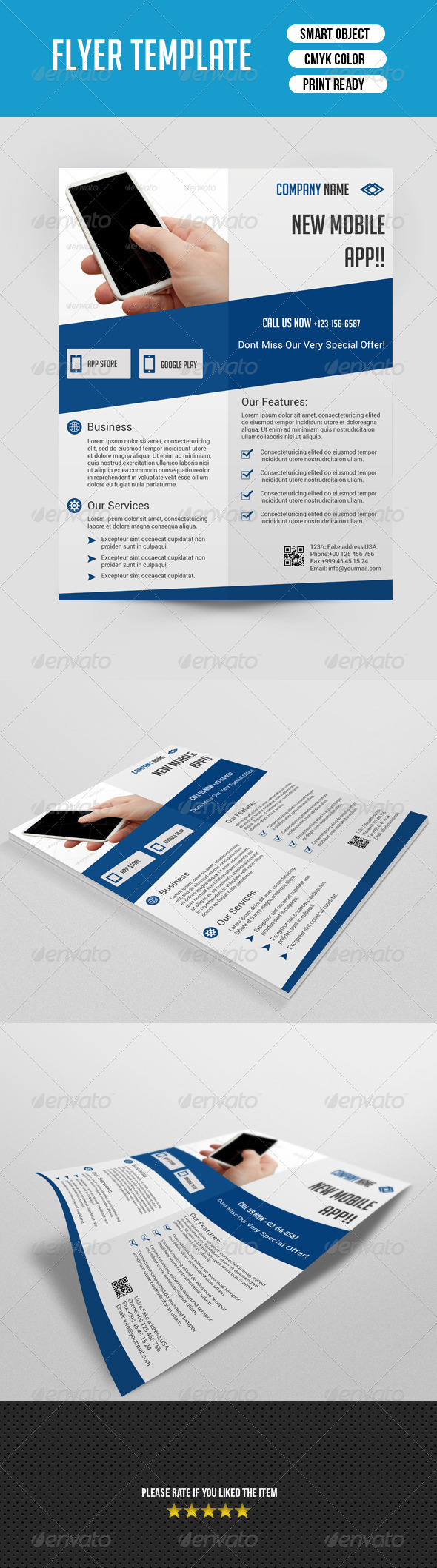 GraphicRiver Mobile App Flyer Template 7582687