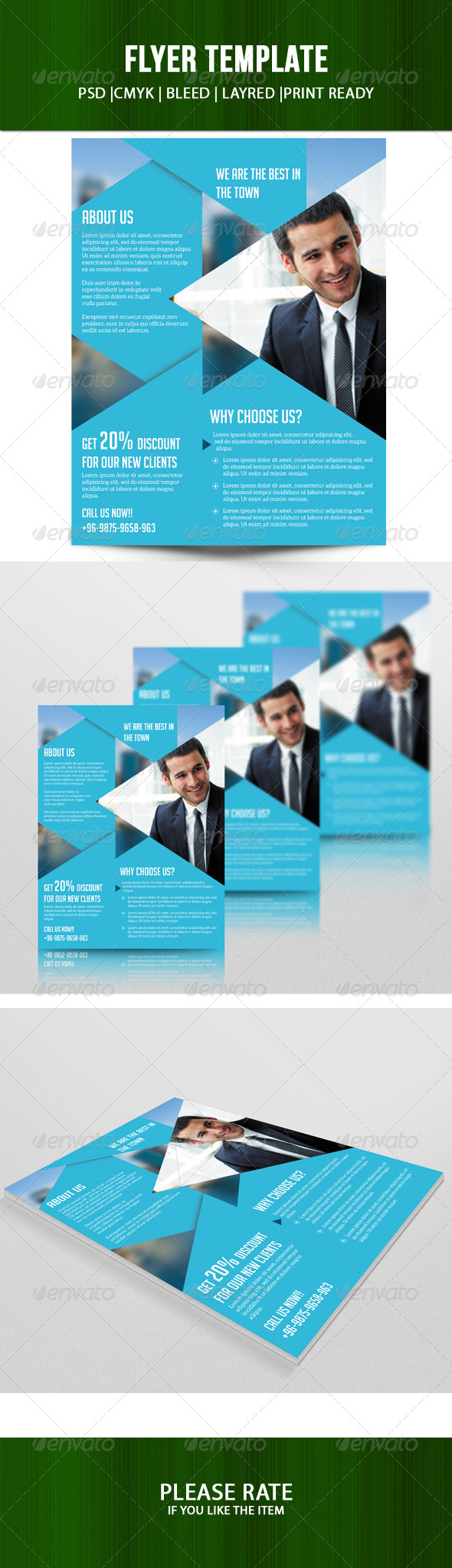 GraphicRiver Business Flyer Template 7582704