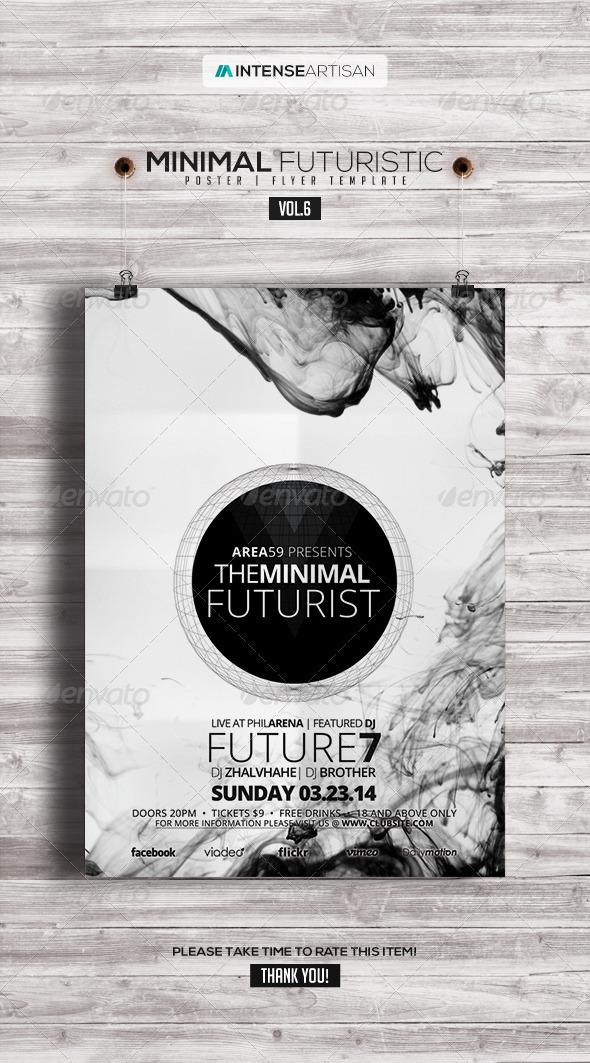 Minimal Futuristic Poster Flyer V.6
