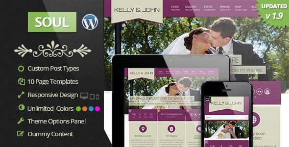Soul - Responsive WordPress Wedding Theme - Wedding WordPress
