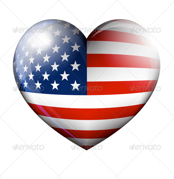 GraphicRiver Stars and Stripes Heart 7582842