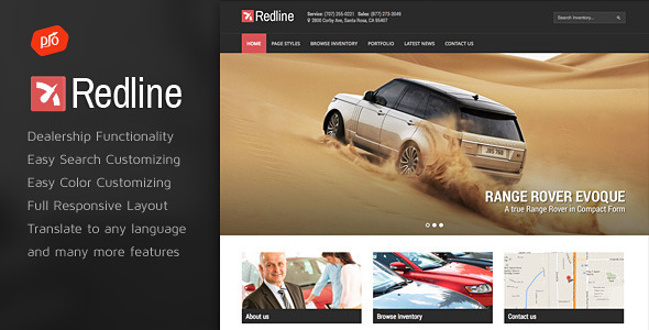Redline Car Dealership Wordpress Theme