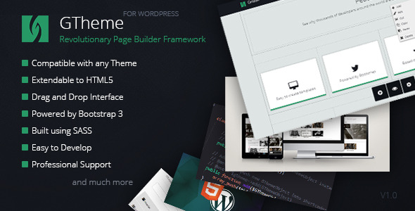 CodeCanyon GTheme Revolutionary WP Page Builder Framework 7573487