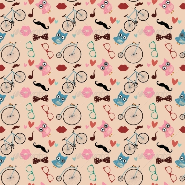 GraphicRiver Hipster Doodles Colorful Seamless Pattern 7584312
