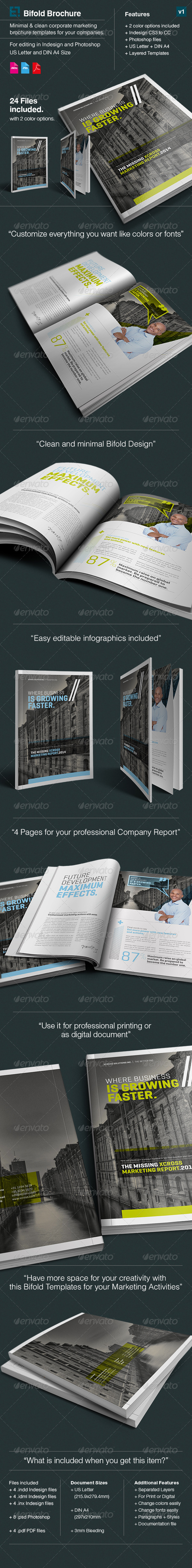 GraphicRiver Corporate Bifold Brochure Xcross A4 & US Letter 7584458
