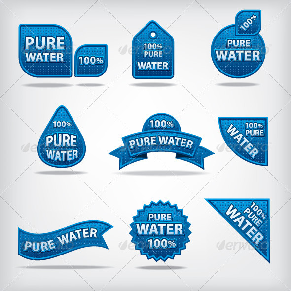 GraphicRiver Pure Water Labels 7584754