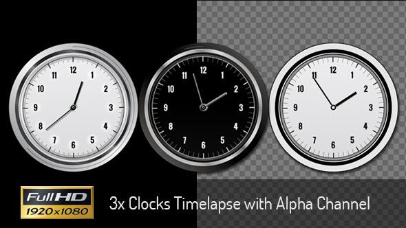 3x Clock Timelapses
