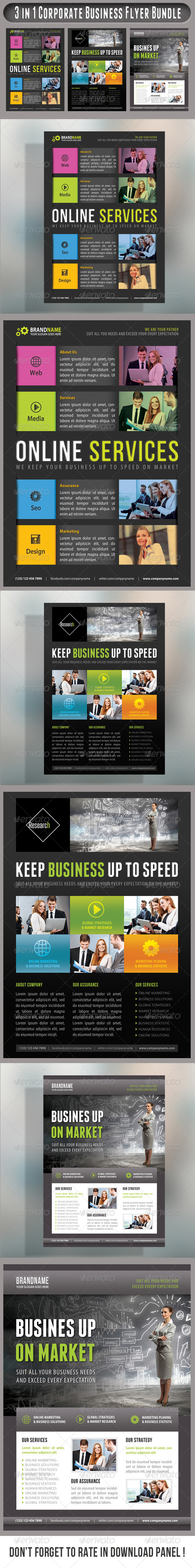 GraphicRiver 3 in 1 Corporate Flyers Bundle 16 7584945