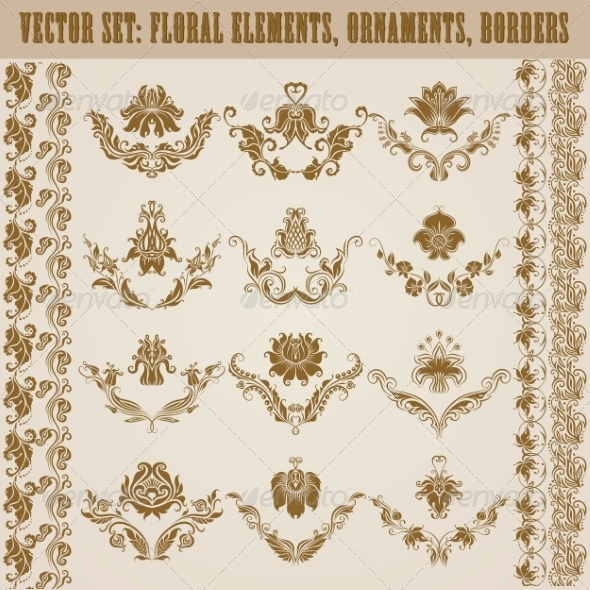GraphicRiver Set of Damask Ornaments 7584960