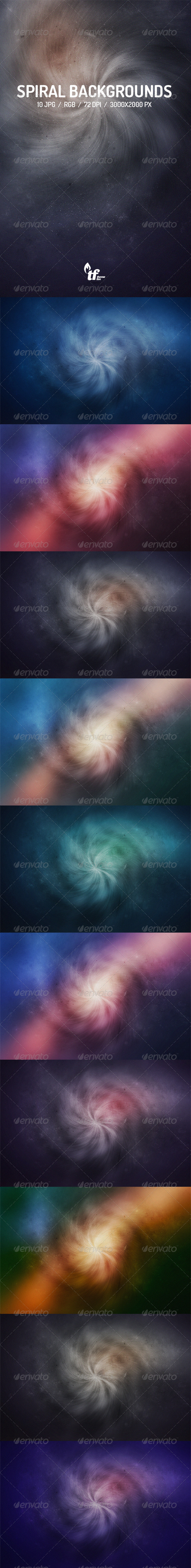 GraphicRiver Spiral Backgrounds 7585021