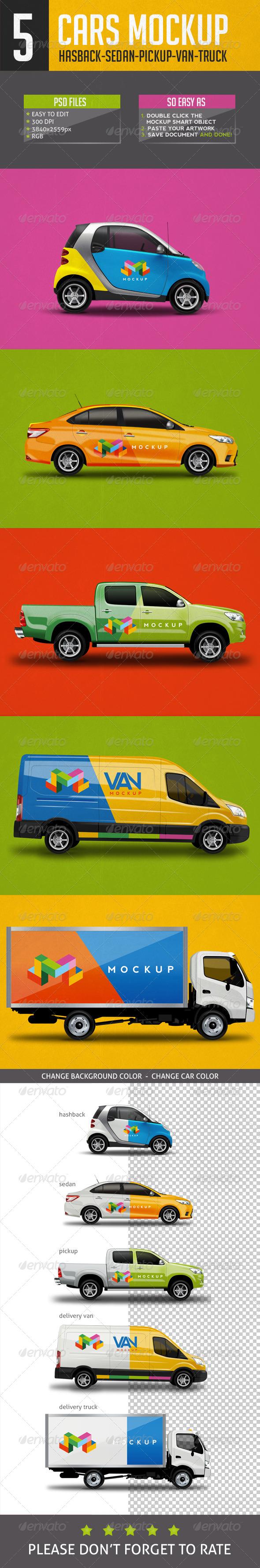 GraphicRiver Cars Mock Up V1 7585124