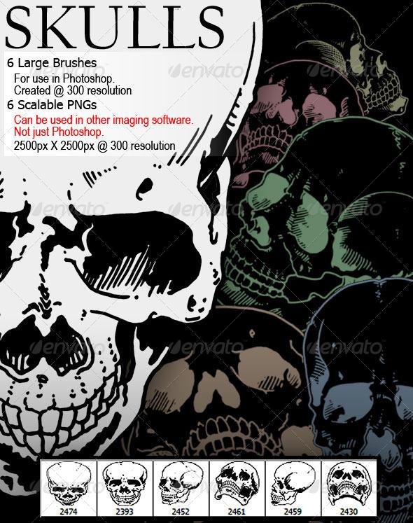 GraphicRiver Skulls 7585125