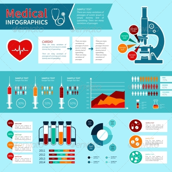 GraphicRiver Flat Medical Infographics 7585128