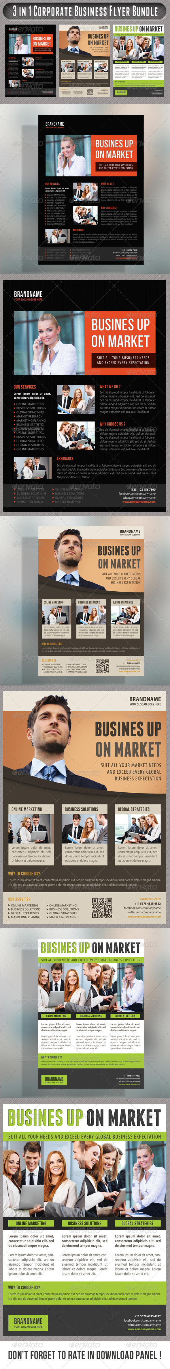 GraphicRiver 3 in 1 Corporate Flyers Bundle 18 7585169