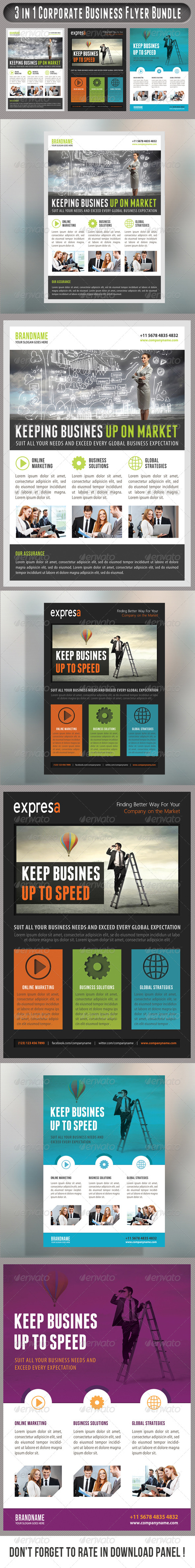 GraphicRiver 3 in 1 Corporate Flyers Bundle 19 7585183