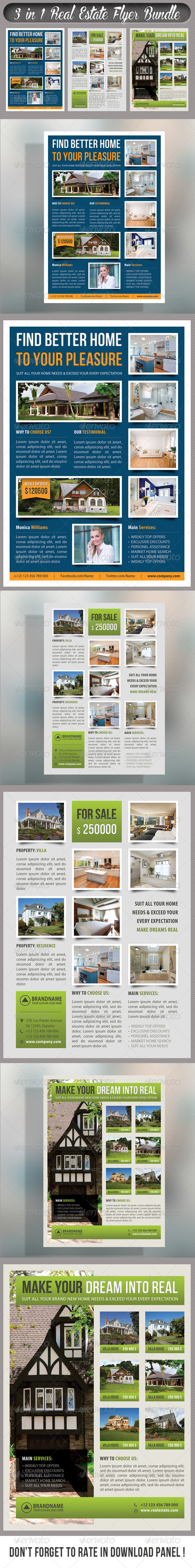 GraphicRiver 3 in 1 Real Estate Corporate Flyer Bundle 05 7585252
