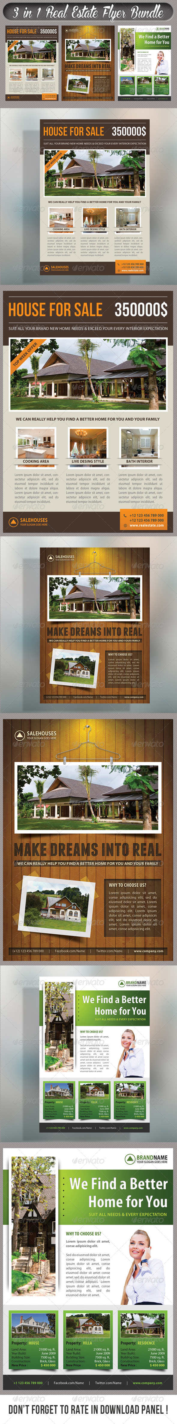 GraphicRiver 3 in 1 Real Estate Corporate Flyer Bundle 06 7585417