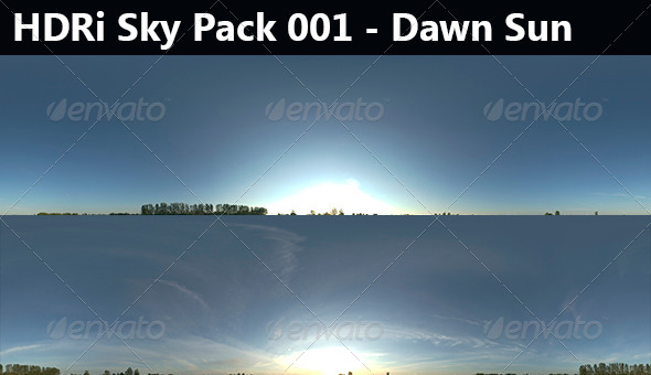 2 HDRi Sky Pack 001 - Dawn - 3DOcean Item for Sale
