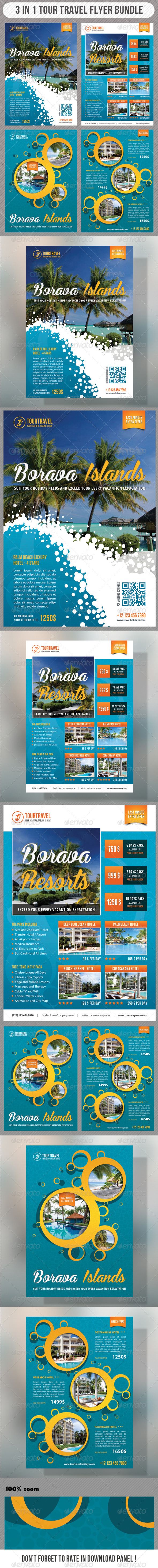 GraphicRiver 3 in 1 Tour Travel Flyer Bundle 04 7585441