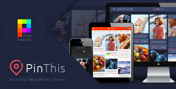 PinThis - Best Pinterest Style Wordpress Theme - Personal Blog / Magazine
