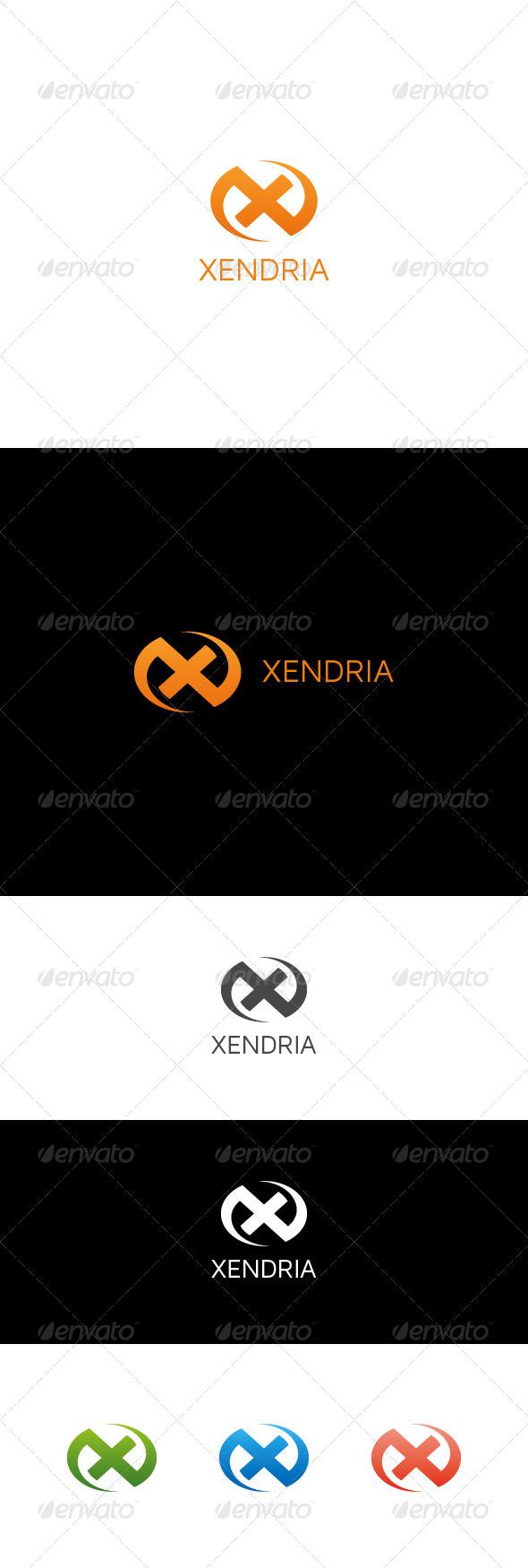 GraphicRiver X Letter Logo XENDRIA 7585616