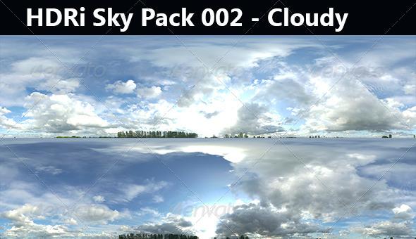 3DOcean HDRi Sky Pack 002 Cloudy 7585642