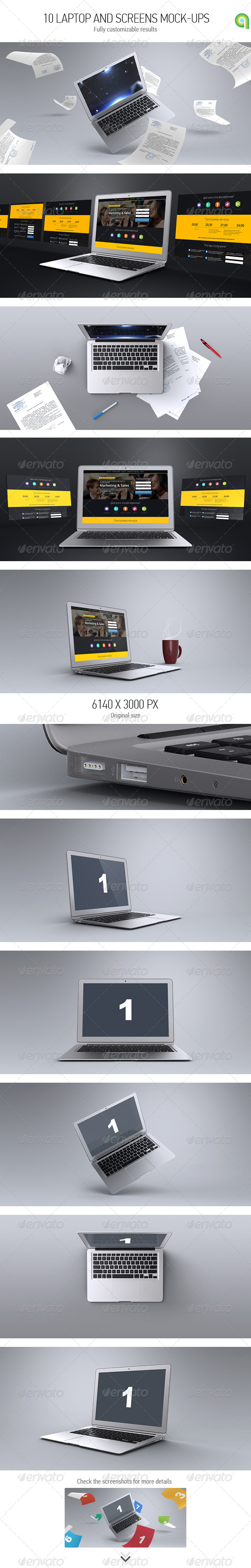 GraphicRiver Laptop & Screen Mockup 7585691