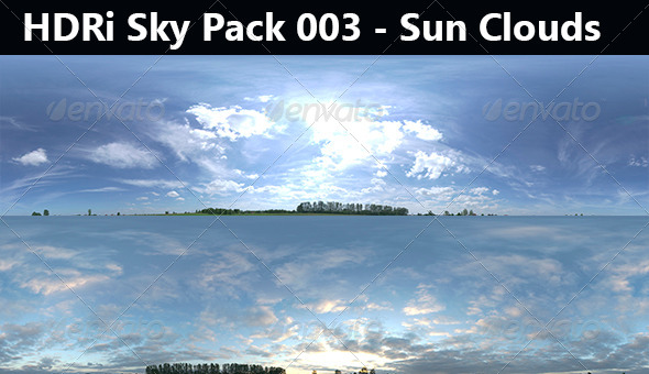 3DOcean 2 HDRi Sky Pack 003 Sun Cloud 7585758