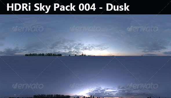 2 HDRi Sky pack 004 - Dusk 1 - 3DOcean Item for Sale