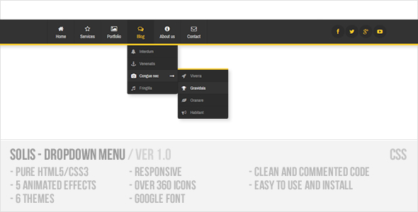 CodeCanyon Solis Dropdown Menu 7585814