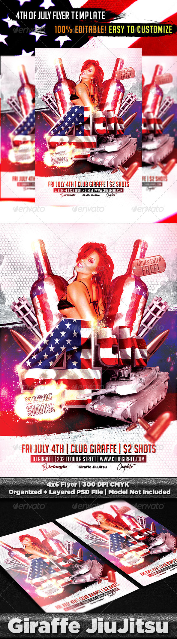GraphicRiver 4th of July Flyer Template PSD 7585822