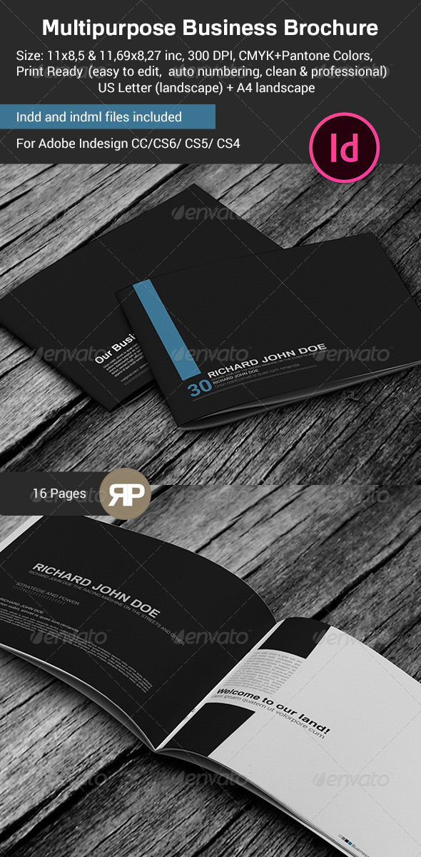 GraphicRiver Multipurpose Business Brochure US Letter and A4 7585832