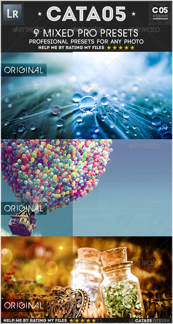 GraphicRiver 9 Mixed Pro Presets 7586040