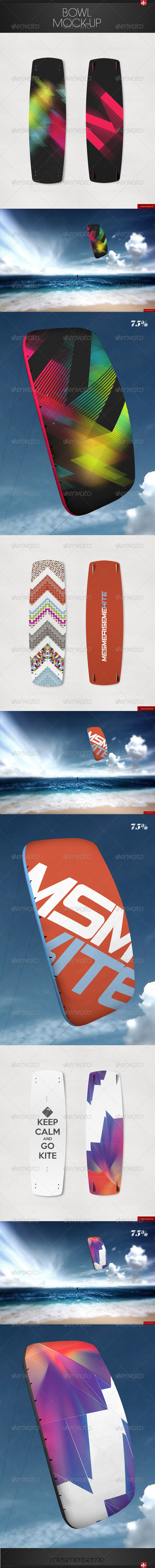 GraphicRiver Kitesurfing Mock-up 7586042