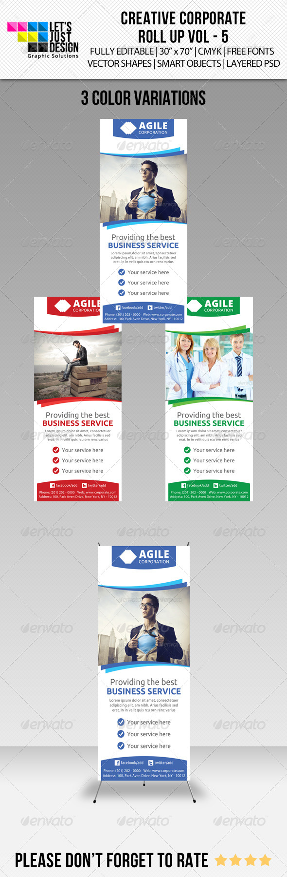 GraphicRiver Corporate Roll-up Banner Vol 5 7586107
