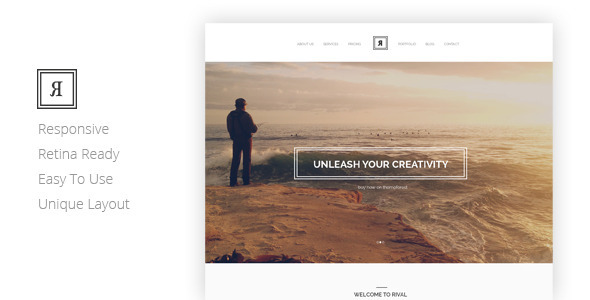 RIVAL Creative One Page Template - Creative Site Templates