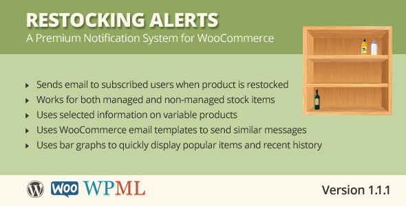 Restocking Alerts for WooCommerce - CodeCanyon Item for Sale